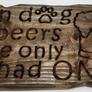 Bar sign – In dog beers, I've only had one