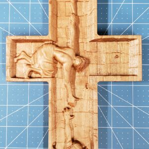 Wood Cross – Jesus helping us out of the well